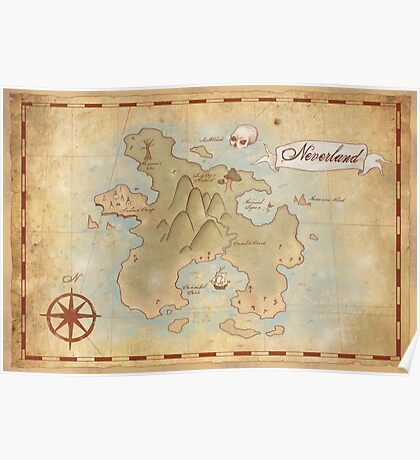 Map of Neverland Poster