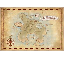 Map of Neverland Photographic Print