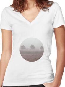 Foggy morning Women's Fitted V-Neck T-Shirt