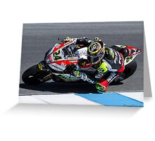 Toni Elias at Laguna Seca 2013 Greeting Card
