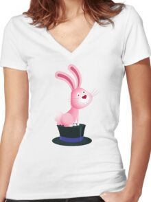 Magic bunny Women's Fitted V-Neck T-Shirt