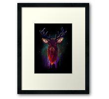Galaxy Stag Framed Print