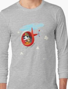 Helicopter dog Long Sleeve T-Shirt
