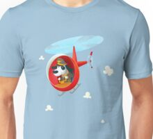 Helicopter dog Unisex T-Shirt