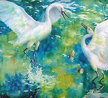 Dance of the Egrets by Deborah Younglao