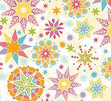 Colorful holiday stars pattern by oksancia