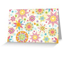 Colorful holiday stars pattern Greeting Card