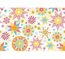 Colorful holiday stars pattern Photographic Print