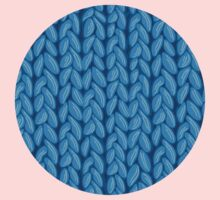 Blue knit sweater fabric pattern One Piece - Long Sleeve