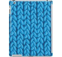 Blue knit sweater fabric pattern iPad Case/Skin