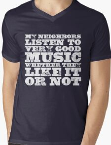 Very Good Music Mens V-Neck T-Shirt