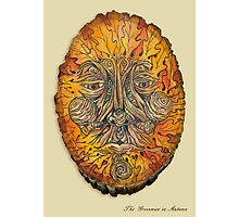 Greenman in Autumn Photographic Print