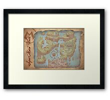 Super Mario World Map Framed Print