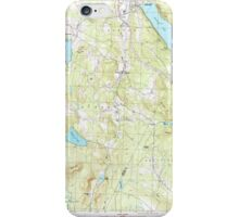 USGS Topo Map  Vermont VT Crystal Lake 337387 1986 24000 iPhone Case/Skin