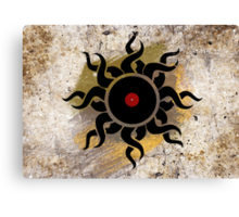 Retro Vinyl Records - Vinyl Sunrise - Modern Cool Vector Music T-Shirt DJ Design Canvas Print
