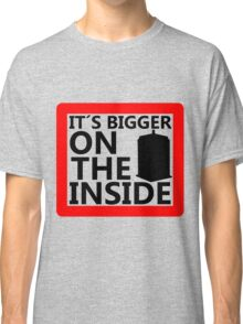 It´s Bigger On the Inside -Sign Classic T-Shirt