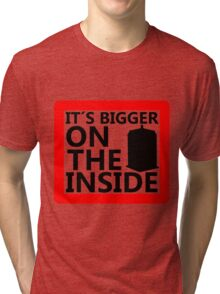 It´s Bigger On the Inside -Sign Tri-blend T-Shirt