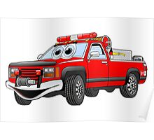 Pick Up Fire Truck Poster