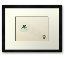 trash man Framed Print