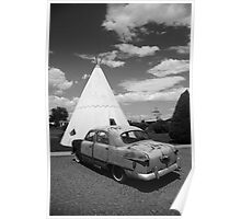 Route 66 Wigwam Motel and Classic Car Poster