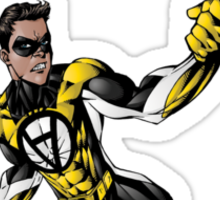 Voluntaryist Comic Hero Sticker Sticker