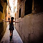 Hidden Alley: Exploring the Narrow Streets of Venice, Italy  by thewaxmuseum