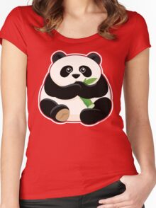 Cute Fat Panda Women's Fitted Scoop T-Shirt