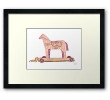 Pink Rocking Horse Framed Print
