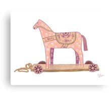 Pink Rocking Horse Canvas Print