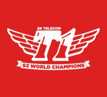 Red SKT T1 World Champions Vintage Tee by LetsPlayMax