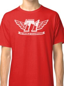 Red SKT T1 World Champions Vintage Tee Classic T-Shirt