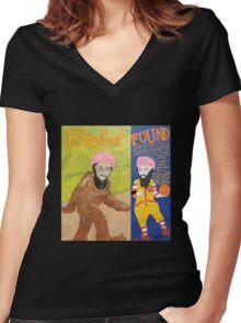 BinRonaldFoot Women's Fitted V-Neck T-Shirt