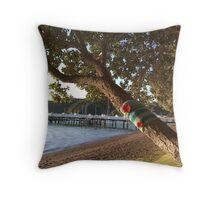 North Island NZ - Yarn Bomb Tree Throw Pillow