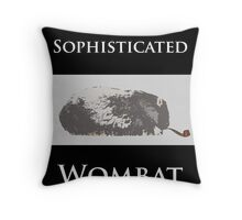 The Sophisticated Wombat Throw Pillow