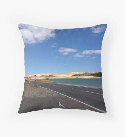 North Island NZ - Sand Dune Throw Pillow