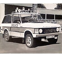 Range Rover Police Car Photographic Print
