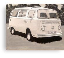 VW Type 2 Campervan Canvas Print