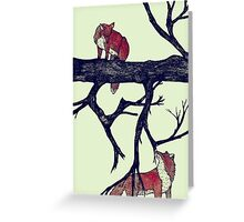 Foxes First Meeting Greeting Card