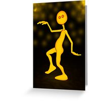 Mellow Stan The Yellow Man Greeting Card