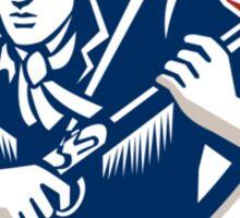 American Frontiersman Patriot Stars Stripes Flag Sticker