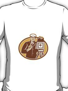 Photographer Vintage Camera Front Retro T-Shirt