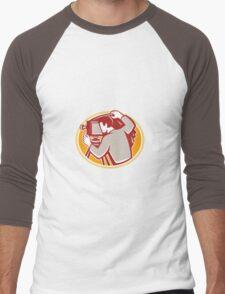 Photographer Vintage Camera Rear Retro Men's Baseball ¾ T-Shirt
