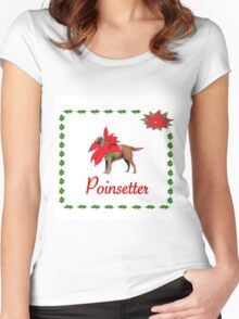POINSETTER Women's Fitted Scoop T-Shirt