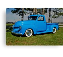 1950 Chevrolet truck Baby Blue Canvas Print