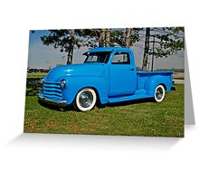 1950 Chevrolet truck Baby Blue Greeting Card