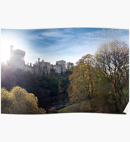 Lismore castle over the blackwater river Poster