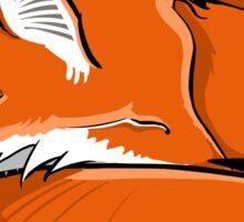 Red Fox in Snow Sticker
