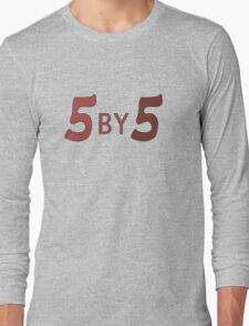 5 by 5 Long Sleeve T-Shirt