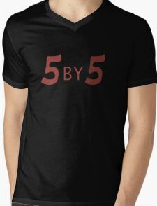 5 by 5 Mens V-Neck T-Shirt