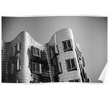 Gehry, Black & White Poster